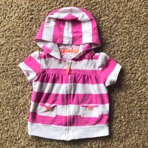 Baby girl zip up